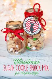 sugar cookie snack mix neighbor gift
