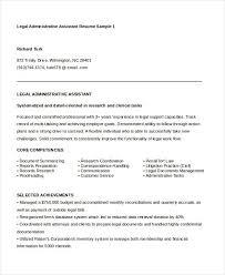 Legal Assistant Resume Keywords Sample Customer Service