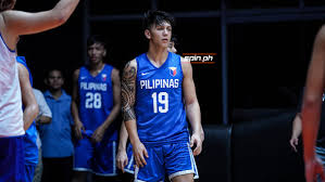 James Spencer on the game for the Gilas Pilipinas youth team in 2019 at the  Fiba U19 World Cup