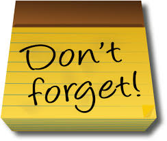 Image result for dont forget clipart