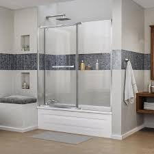 Shop DreamLine Vitreo-X 58.75-in W x 58-in H Frameless Bathtub ...