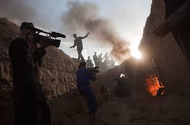 making movies in photo essays time cameramen film a scene in the village just north of kabul