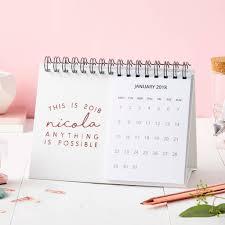 personalised this is 2018 desk calendar