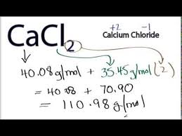 Molar Mass Molecular Weight Of Cacl2