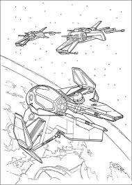 Disegno Di Starfighter Eta 2 E X Wing T 65 Da Colorare Disegni Da