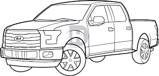How To Draw An F-150 Ford Pickup Truck, Step by Step, Drawing Guide ...