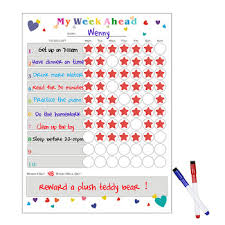 Kids Dry Erase Magnetic Star List Responsibility Goals Daily Rewards Behavior My Chore Chart Buy My Chore Chart Rewards Chart Magnetic Star Chart