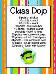 Teacher Reward Chart Class Dojo Reward Chart