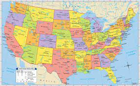 สหรัฐอเมริกากับแผนที่เมือง-เป็นหนึ่งของรัฐดูแผนที่กับเมือง(อนเหนือของอเมริกา -Americas)
