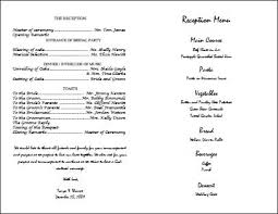 program template for wedding wedding day program template kays makehauk co