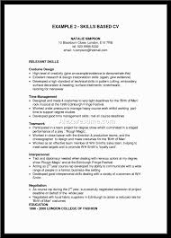 example skills based cv co example skills based cv