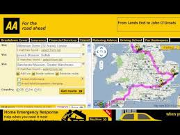Trip Planner Calculator Aa Route Palnner Usa Route Planner Us Mileage Calculator