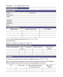 Employee Application Form Word Course Registration Form Template Word Job Application Basic