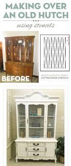 cutting edge furniture. cutting edge stencils shares a diy stenciled hutch makeover using the beads furniture stencil p