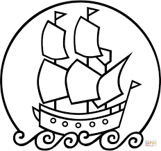 The Mayflower Ship Coloring Page Free Printable Coloring Pages