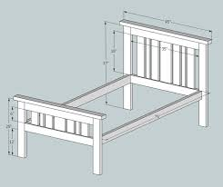 Plain Diy Bedroom Furniture Plans 25 Twin Bed Frame Ideas On Pinterest Intended Concept Design