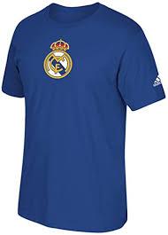 adidas Real Madrid Team Crest Blue T-Shirt : Clothing - Amazon.com