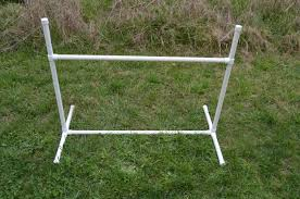 pvc pipe agility hurdle jump for dogs