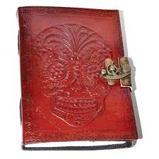 sugar skull day of the dead leather journal at tree of life journeys reconnect with