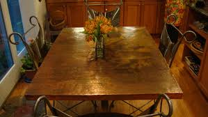 Copper Top Kitchen Table Copper Kitchen Table Top