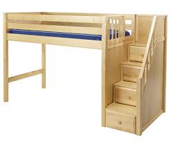 Focus Bunk Bed With Steps Furniture Beds Stairs For Kids And Loft