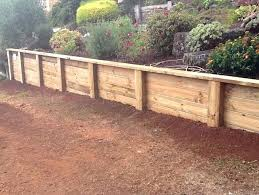 sleeper retaining wall posts timber vertical design guide
