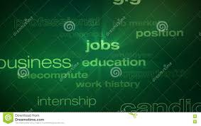 Jobs And Employment Words Loop Stock Footage Video Of Experience
