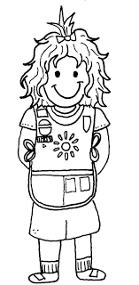 Girl Scout Coloring Pages Printable Printable Girl Scout Cookie