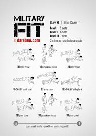 Military Workout Chart Military Fit 30 Day Fitness Program Military Workout 30