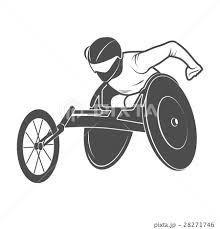 車椅子マラソンのイラスト素材 Pixta