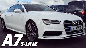 2016 audi a7 white. 2016 audi a7 sportback sline walk around 30 tdi ultra 218ps ibis white youtube o