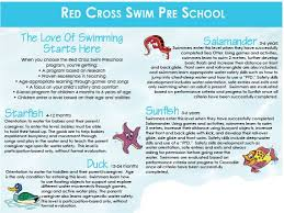 See The Full List Of Red Cross Swimming Lessons Available At