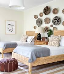 rattan twin bed. Interesting Twin Welcoming Shared Boysu0027 Bedroom Features Decorative Baskets Mounted On The  Wall Above A Wood Dresser Topped With Brown Double Gourd Flanked By Rattan Twin  Intended Rattan Twin Bed H