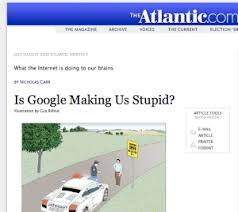 """is google making us stupid in writing essays coursework academic  is google making us stupid in writing essays is google making us stupid in """" is"""