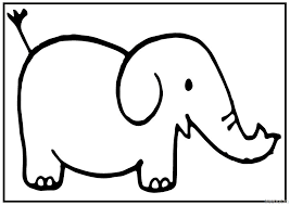 cute baby elephant printablecoloring pages 2