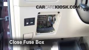interior fuse box location lexus es lexus secure the cover and test component