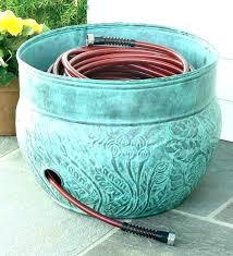 garden hose pot with lid. Copper Garden Hose Holder Pot Smart Inspiration With Lid