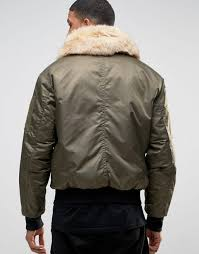 river island aviator jacket with faux fur collar in khaki men jackets river island bags