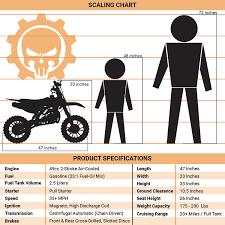 Dirt Bike Height Chart Db 50rr Blue