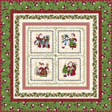 Create a colorful FREE Christmas Quilt featuring the center Santa ... & Picture of Free Quilt - Just Be Claus It's Christmas Adamdwight.com