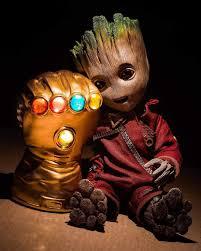 Baby Groot With Infinity Gauntlet ...