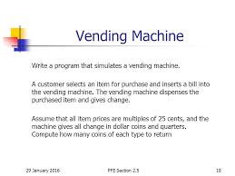 Vending Machine Programming Code Classy 48 January 48Birkbeck College U London48 Introduction To