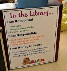 Library Decoration Chart Anchor Charts Behavior Expectations My Library Needs