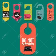 please lock door. Please Do Not Disturb Hotel Door Quiet Motel Service Room Privacy Concept Vector Card Hang Message Lock