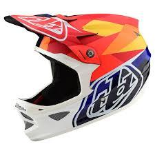 Troy Lee Design D3 Carbon Helmet W Mips Jet Orange Navy