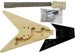 details about electric guitar flying v diy kit build your own guitar