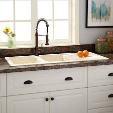 Composite Granite Kitchen Sink 46 Owensboro Double Bowl Drop In Granite Composite Sink With