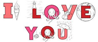 Small Picture Valentines Day Series Say I Love You With Coloring Pages