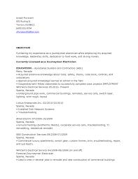 Industrial Electrician Resume Objective Www Omoalata Com
