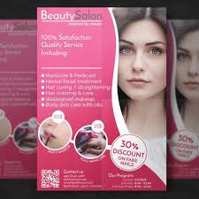 beauty salon flyer template template